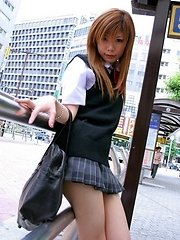 cute schoolgirls from Japan showing amazing skinny bodies dressed in sexy school uniforms