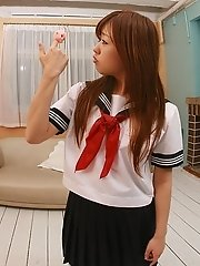 Asian schoolgirl is a hot slutty model