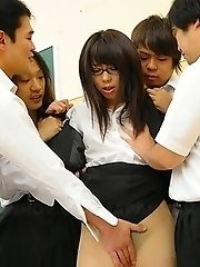 Hot Maho Sawai gets in group sex