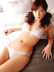 Natsuki Ikeda with big knockers and hot lingerie is naughty